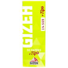 Бумага сигаретная GIZEH Super Fine Size 1 1/4 50 листа + 50 фильтра с магнитной защелкой
