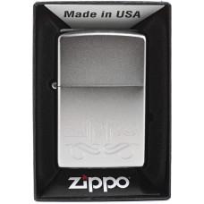 Зажигалка Zippo 24335 Scroll Satin Chrome Бензиновая