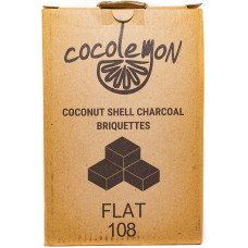 Уголь для кальяна Cocolemon Flat 108 кубика  (Индонезия)