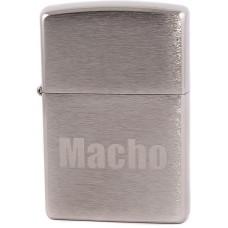 Зажигалка Zippo 200 Macho Brushed Chrome Бензиновая