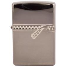 Зажигалка Zippo 21088 Zipped Black Ice Бензиновая