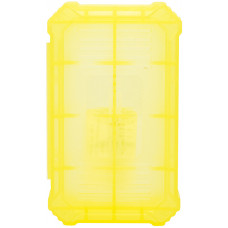 Кейс для хранения 2-х аккумуляторов 18650 желтый (Basen)