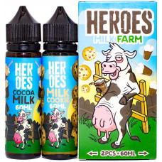 Жидкость Heroes 2*60 мл Milk Farm: Milk Cookie Cocoa Milk 0 мг/мл