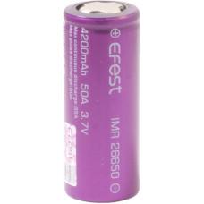 Аккумулятор 26650 Efest IMR 4200 mAh 35А/50A незащищенный  (плоский) LI-MN ВысокоАмперный