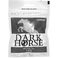 Фильтры для самокруток Dark Horse Slim Carbon 6 мм 120 шт
