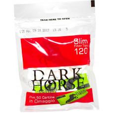 Фильтры для самокруток Dark Horse Slim 6 мм 120 шт + бумага для самокруток Dark Horse