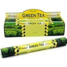Благовония Sarathi Зеленый Чай Gren Tea Аромапалочки HEXA
