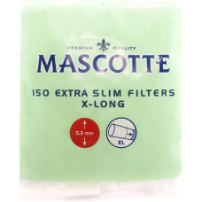 Фильтры для самокруток MASCOTTE Extra Slim Filters X-Long 5.3 мм 150 шт