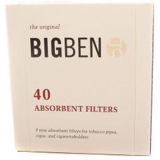 Фильтры д/трубки Big Ben 9 мм 40шт