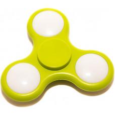 Спиннер Тройной Гипно со светодиодами Зеленый
