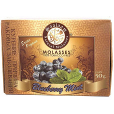 Смесь Saalaam 50 г Черника с мятой (Blueberry Mint) (кальянная без табака)