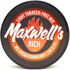 Кальянный Maxwells 25 гр Light Rich Дыня и клубника 0,3%