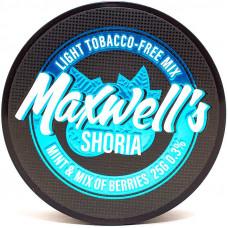 Кальянный Maxwells 25 гр Light Shoria Мята и лесные ягоды 0,3%