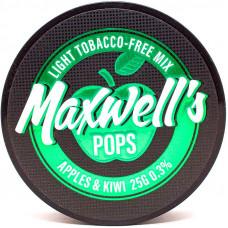 Кальянный Maxwells 25 гр Light Pops Яблоко и киви 0,3%