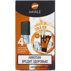 Картриджи inHALE 4 шт Cola Ice - 0.75ml (совместимы с JUUL)