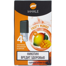 Картриджи inHALE 4 шт Fruity mango - 0.75ml (совместимы с JUUL)