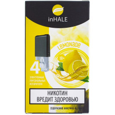 Картриджи inHALE 4 шт Lemonade - 0.75ml (совместимы с JUUL)