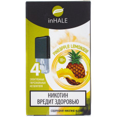 Картриджи inHALE 4 шт Pineapple lemonade - 0.75ml (совместимы с JUUL)
