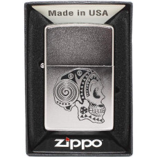 Зажигалка Zippo 205 Tattoo Skull Бензиновая
