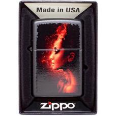 Зажигалка Zippo 218 Burning Woman Бензиновая