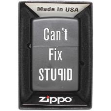 Зажигалка Zippo 28664 Cant Fix Stupid Бензиновая