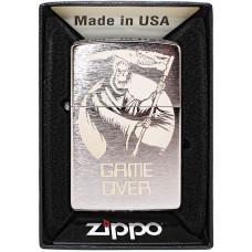 Зажигалка Zippo 29696 Brushed Chrome Бензиновая