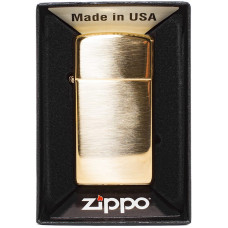 Зажигалка Zippo 1654B Slim Brass WO/S B Бензиновая