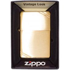 Зажигалка Zippo 240 Vintage BR Fin Brass Бензиновая