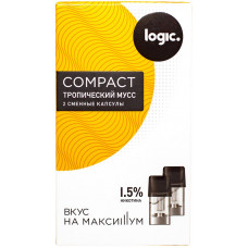 Logic Compact Pods Тропический мусс 1.5% 1.6 мл JTI Картридж Капсулы 2 шт