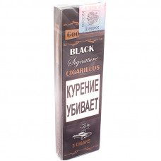 Сигариллы Good Times Cigarilos 3 шт BLACK Signature Черная подпись