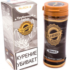 Табак трубочный TURBO DOKHA Black Крепость N3 12 гр (банка) ОАЭ