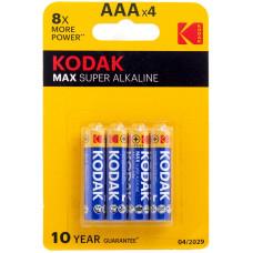 Батарейка Kodak AAA LR03 Alkaline 4 шт