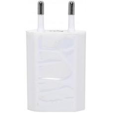 Сетевой адаптер 220V -> USB  500 mA белый и черный