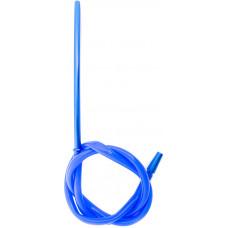 Шланг для кальяна Силикон трубка металл Синий