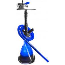 Кальян Amy Deluxe 4-Star 450 (psmbk-bu) Колба Синяя Шахта Черная h=53 см