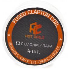 Спираль Hot Coils 4 шт Fused Clapton Coil SS316*Ni 0.07 Ом/пара (0.5*0.1)