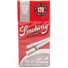 Фильтры для самокруток Smoking Pre-Cut Ultra Slim 120 шт