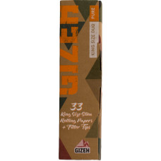 Бумага сигаретная GIZEH King Size DUO Pure 33 листа + 33 фильтра