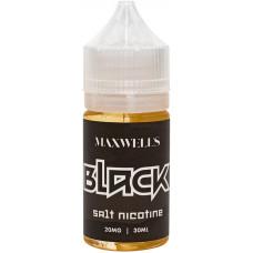 Жидкость Maxwells SALT 30 мл BLACK 20 мг/мл Терпкий табак