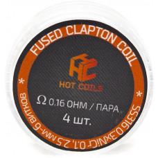 Спираль Hot Coils 4 шт Fused Clapton Coil SS316*Ni 0.16 Ом/пара (0.3*0.1)