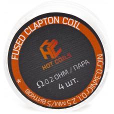 Спираль Hot Coils 4 шт Fused Clapton Coil *Ni 0.2 Ом/пара (0.3*0.1)