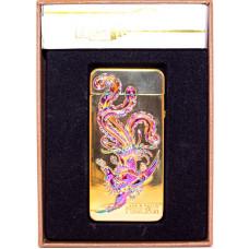 Зажигалка Электронная microUSB Jin Lun Zodiac JL 603 Золотая