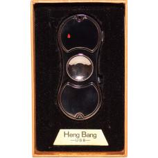 Спиннер Зажигалка Heng Bang USB Черная со светодиодами