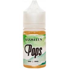 Жидкость Maxwells 30 мл Pops 6 мг/мл Кисло-сладкая жвачка с киви и яблоком
