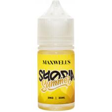 Жидкость Maxwells 30 мл SHORIA SUMMER 3 мг/мл Мятный ананасовый джем