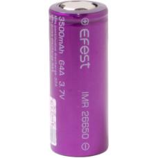 Аккумулятор 26650 Efest IMR 3500 mAh 32А/64А незащищенный (плоский) LI-MN ВысокоАмперный