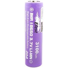 Аккумулятор 18650 Efest IMR 3100 mAh 20А незащищенный  (выпуклый с пимпочкой) LI-MN ВысокоАмперный