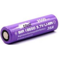 Аккумулятор 18650 Efest IMR 2500 mAh 35А незащищенный  (плоский) LI-MN ВысокоАмперный