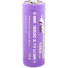 Аккумулятор 18500 Efest IMR 1000 mAh 15А незащищенный (выпуклый с пимпочкой) LI-MN ВысокоАмперный