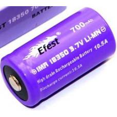 Аккумулятор 18350 Efest IMR 700 mAh 10.5А незащищенный (выпуклый с пимпочкой) LI-MN ВысокоАмперный